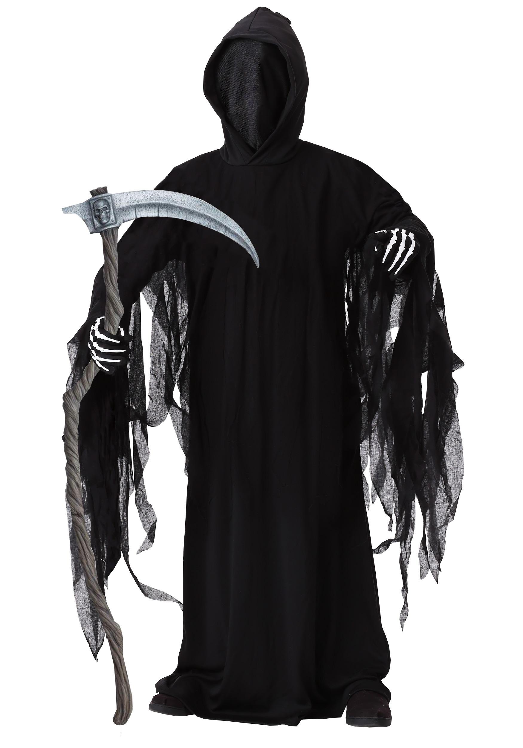 Grim Reaper /& Scythe Boys Halloween Fancy Dress Death Kids Costume Childs Outfit