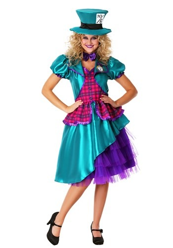 Womens Teal Hatter Costume
