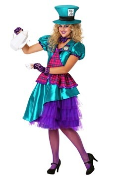 Women's Plus Size Teal Hatter Costume Update