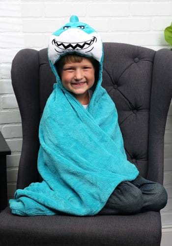 Click Here to buy Seymour the Shark Comfy Critters Blanket from HalloweenCostumes, CDN Funds