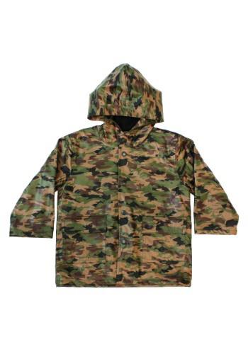 Kids Camo Army Rain Coat Costume1