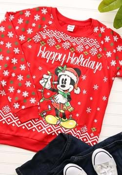 Happy Holidays Mickey Mouse Juniors Light Up Sweater-update