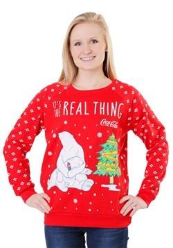 Coca Cola Polar Bear Light Up Juniors Sweatshirt Update Main