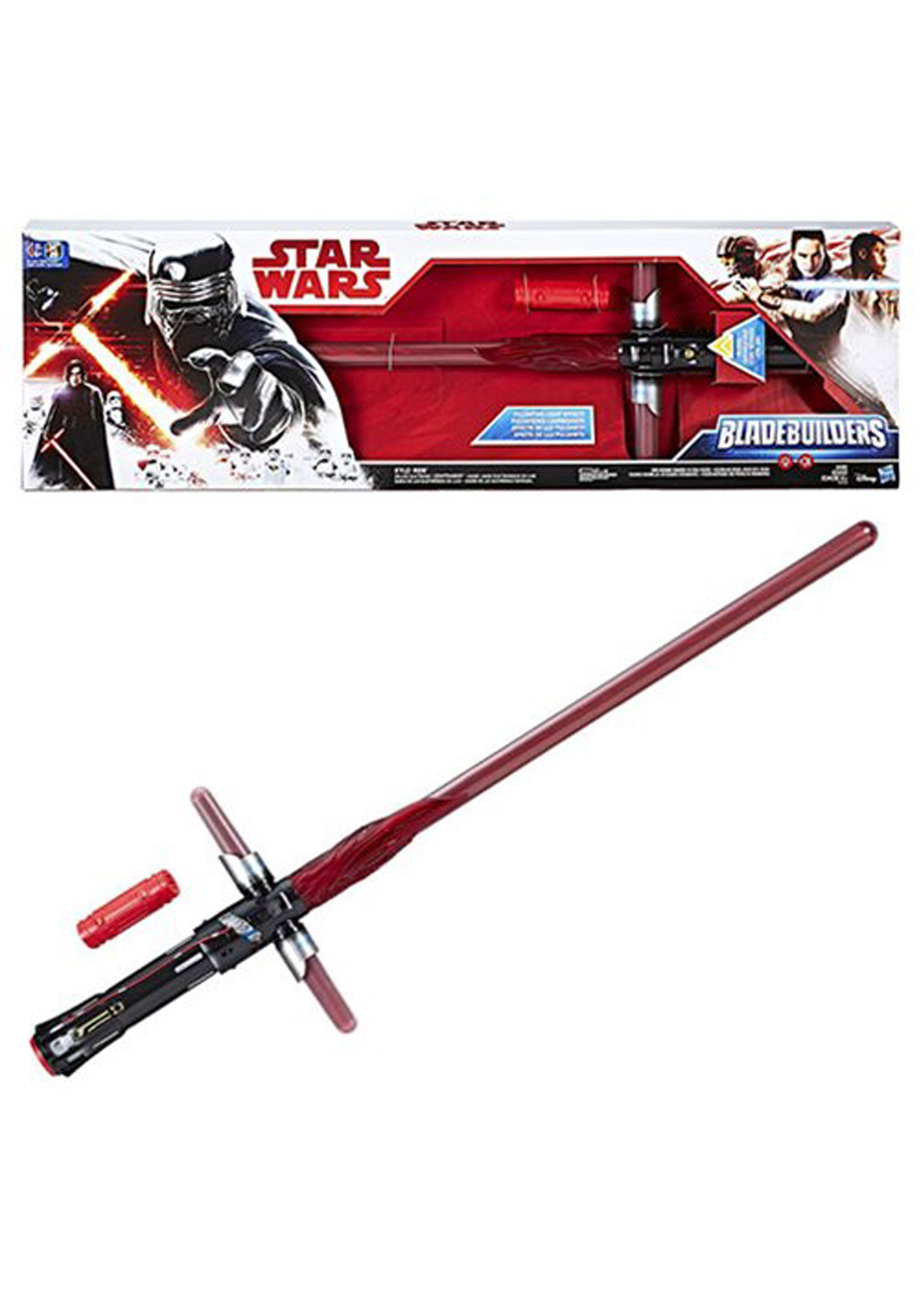 Star Wars The Force Awakens Kylo Ren Deluxe Electronic Lightsaber Toys & Games