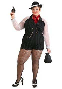 Womens Plus Size Gangster Gal Costume