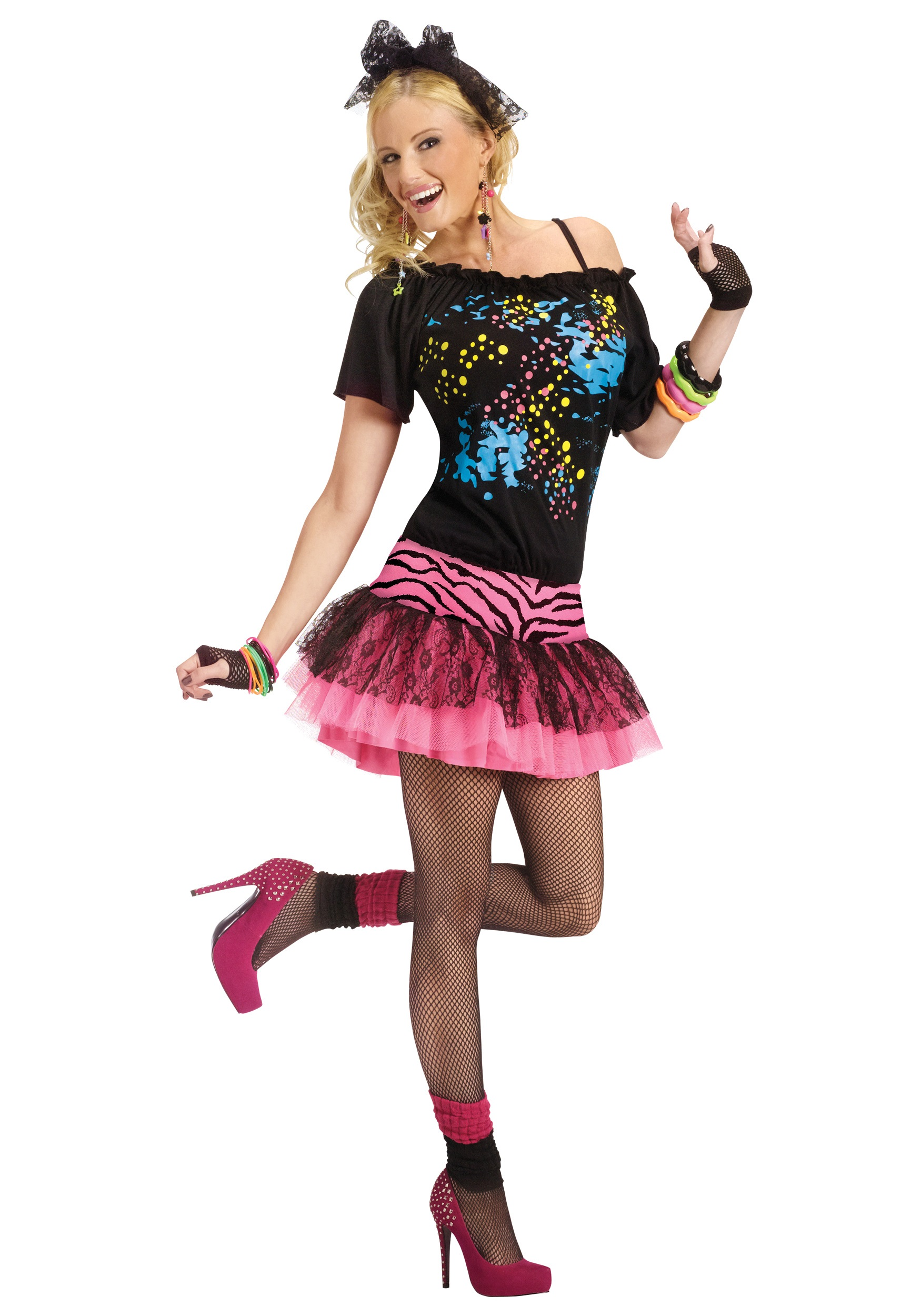 80's Fashion Trends For Women For Party Adult s Pop Party Costume