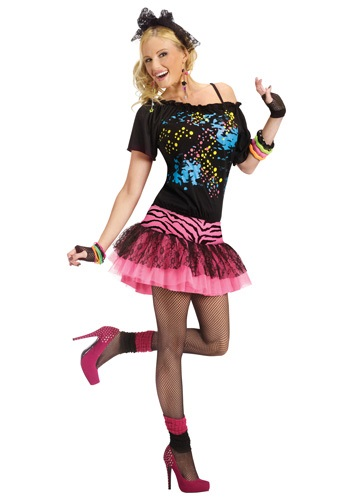 Click Here to buy Adult 80s Pop Party Costume from HalloweenCostumes, CDN Funds