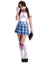 Sexy Nerd School Girl Costume