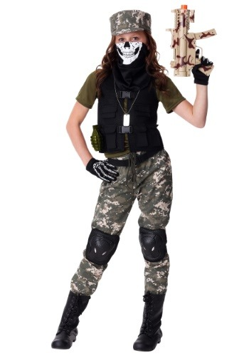 Girls Stealth Soldier Costume