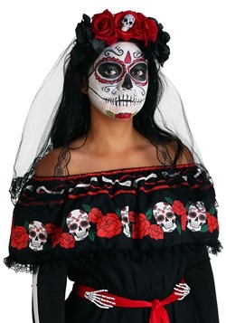 Day of the Dead Womens Veil