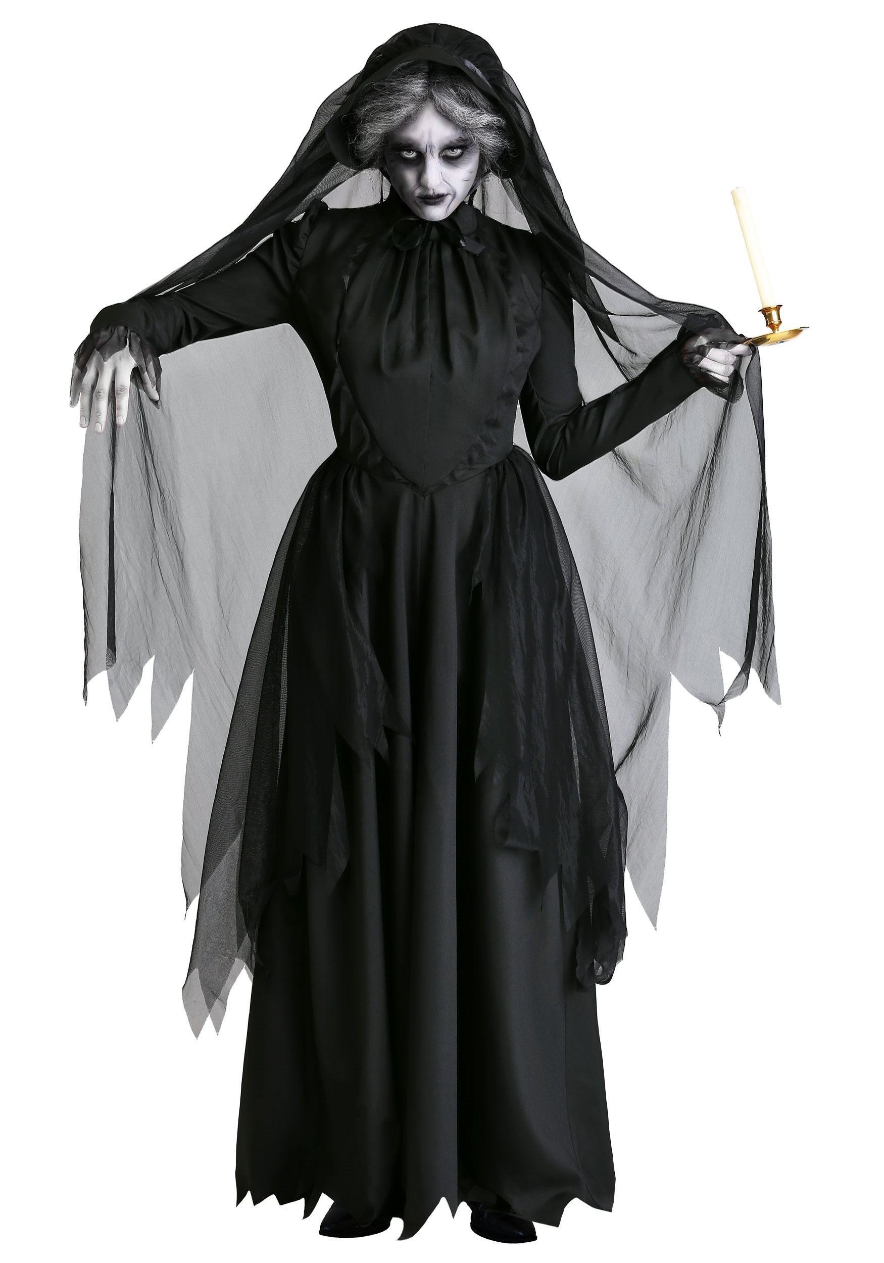 Women's Lady in Black Ghost Costume