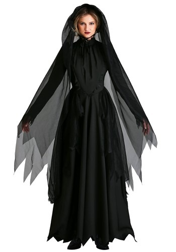 Lady in Black Womens Ghost Costume