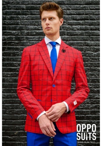 Click Here to buy Mens OppoSuits Spider-Man Suit from HalloweenCostumes, USA Funds & Shipping