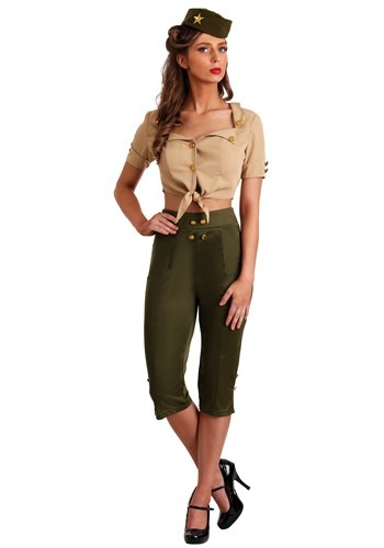 Women's Vintage Pin Up Soldier Costume