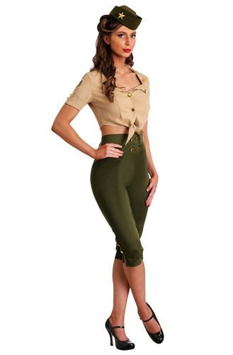Vintage Pin Up Soldier Womens Costume