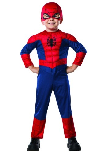 Click Here to buy Spider-Man Costume for Toddlers from HalloweenCostumes, USA Funds & Shipping