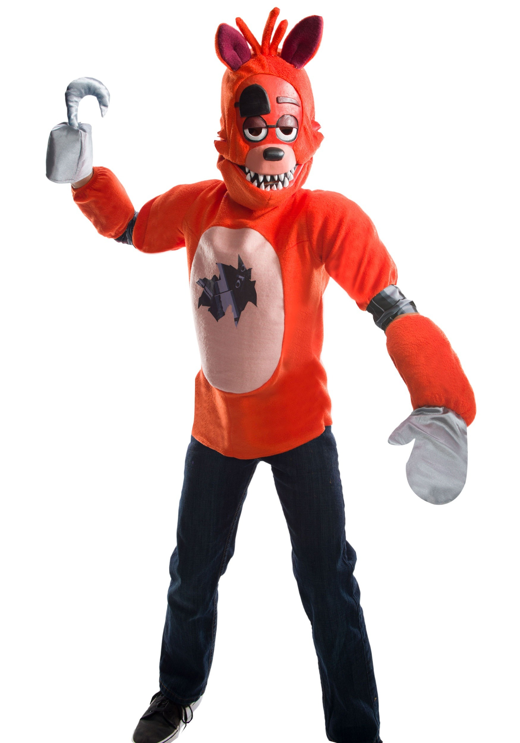 Five Nights At Freddy S Deluxe Foxy Costume For Kids