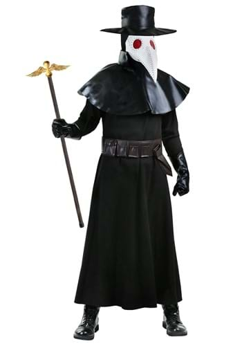 Click Here to buy Adult Plague Doctor Plus Size Costume 2X 3X from HalloweenCostumes, CDN Funds