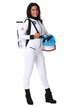 Women's White Astronaut Costume