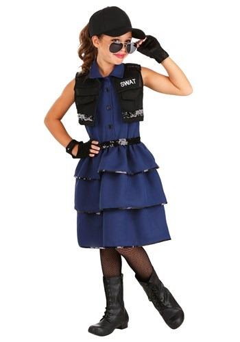 Girl's SWAT Costume 1