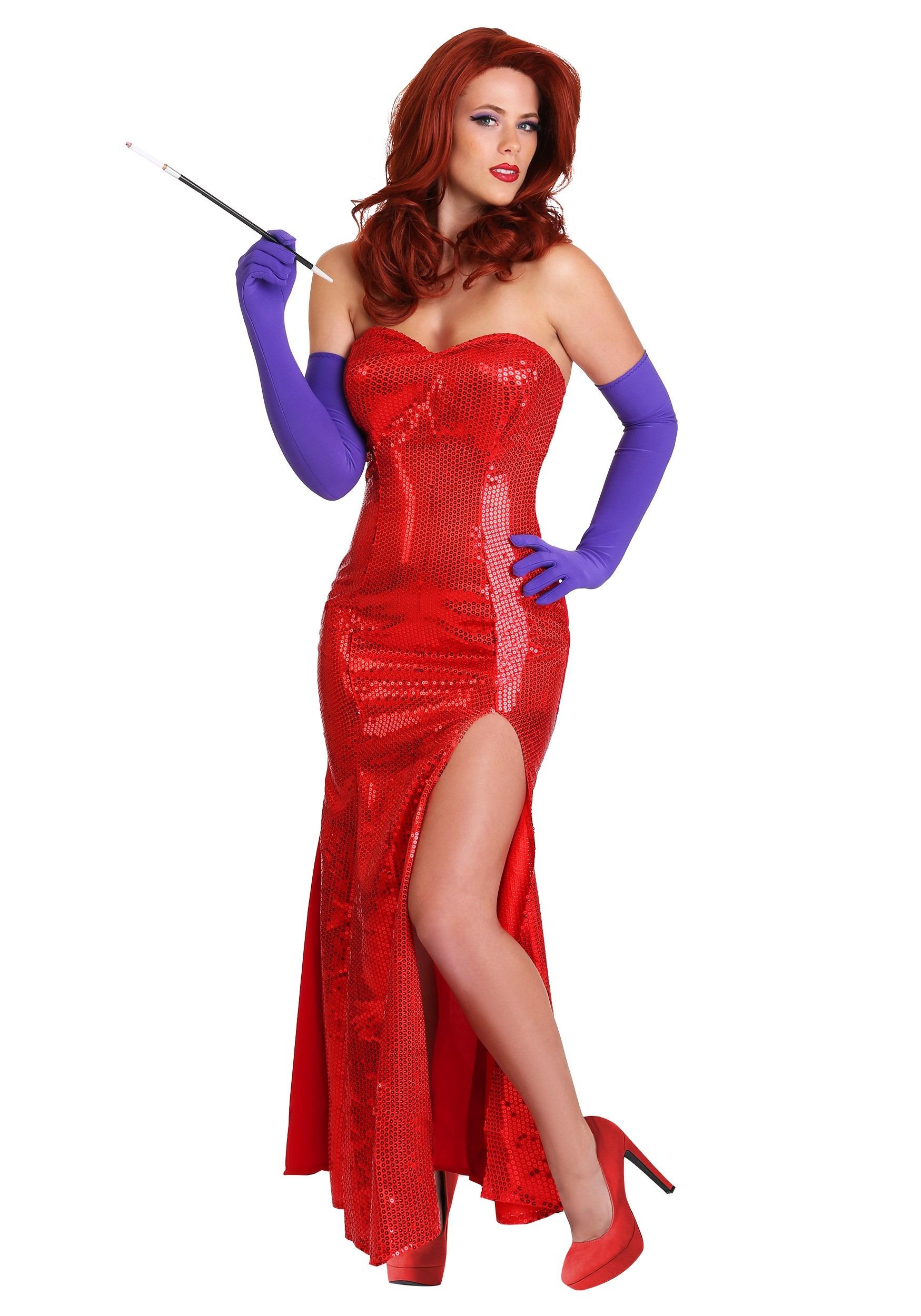Miss Jessica ~ Red Sequin Jessica Rabbit Corset Costume Gown