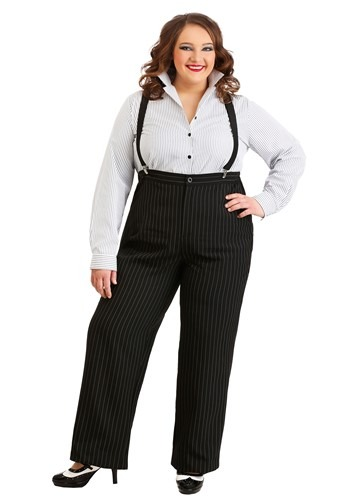 1920s Gangster Lady Costume Plus Size