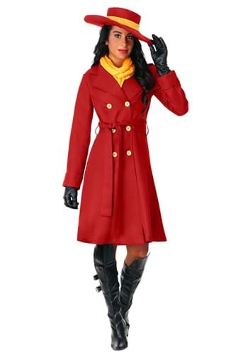 Click Here to buy Carmen Sandiego Womens Costume from HalloweenCostumes, CDN Funds