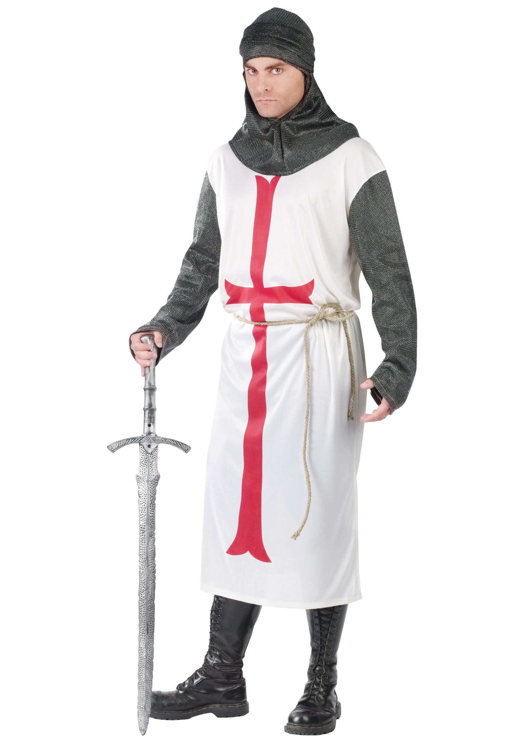 Men's Templar Knight Costume