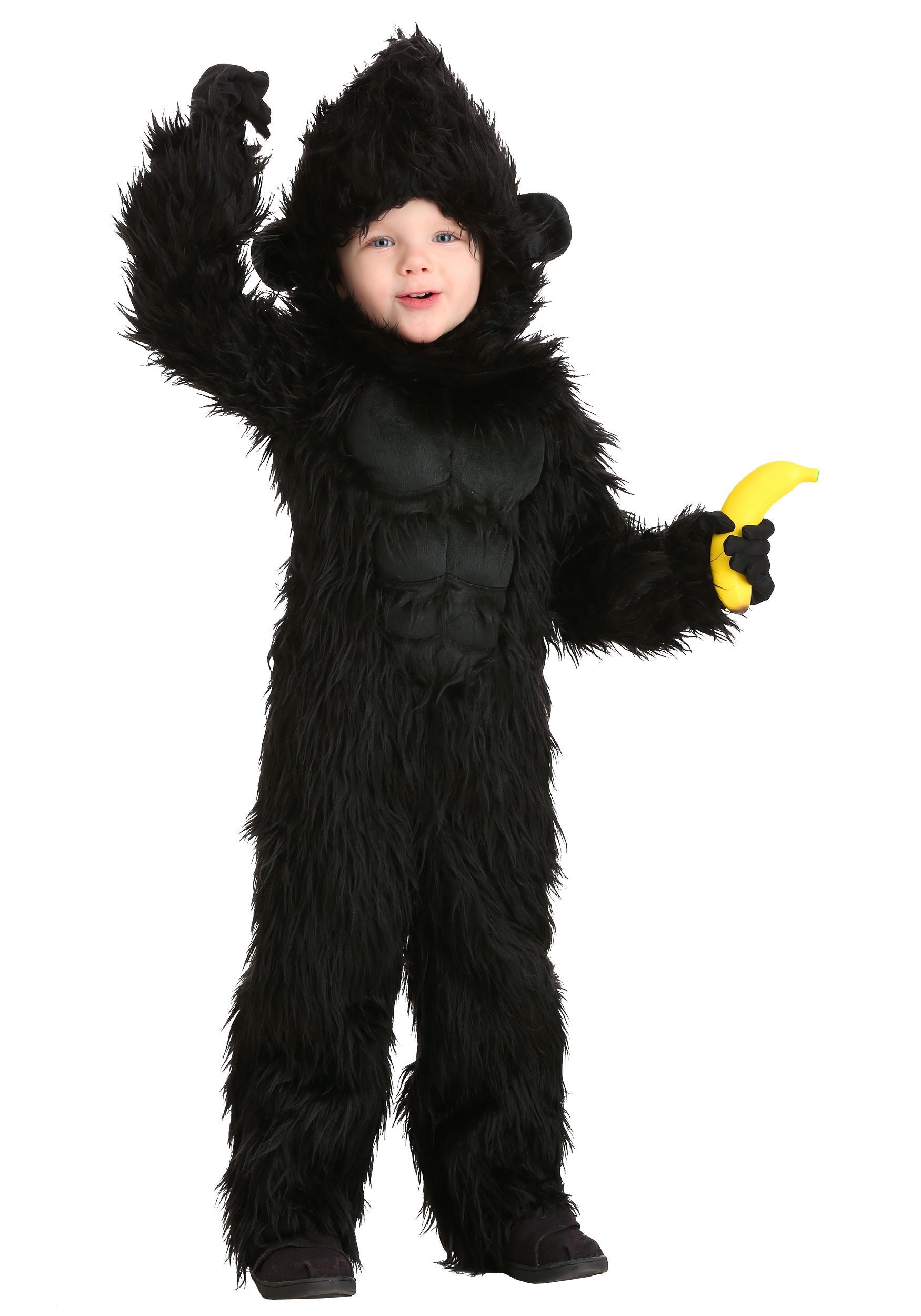 Little Kids Plush Gorilla Costume By Dress up America