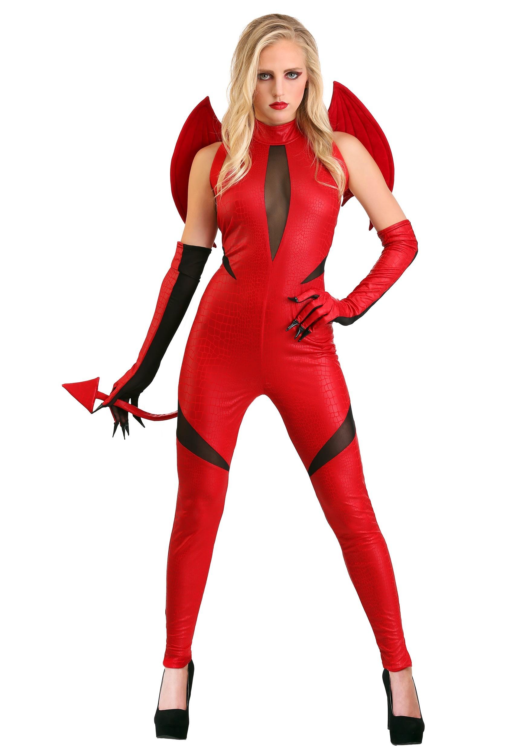 Adult demon woman costume4