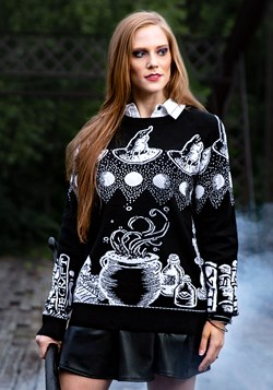 Adult Witch Spellcraft and Curios Ugly Halloween Sweater Upd
