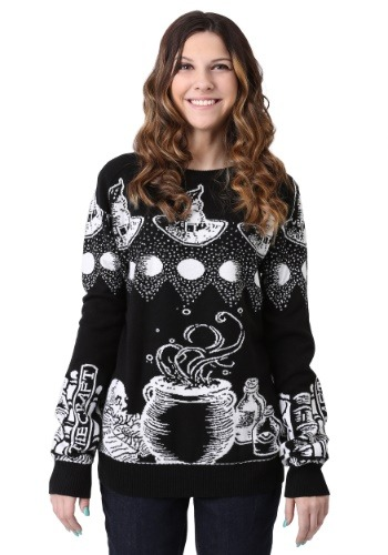 Witch Spellcraft and Curios Halloween Sweater