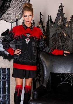Dracula Vampire Ugly Halloween Adult Sweater
