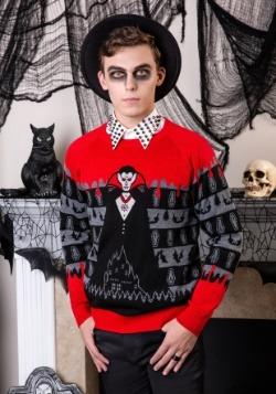 Dracula Vampire Ugly Halloween Adult Sweater update1 alt1