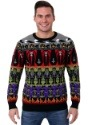 Adult Classic Horror Monsters Fair Isle Halloween Sweater Up