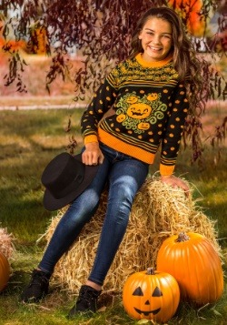 Pumpkin Patch Child Ugly Halloween Sweater Update Main