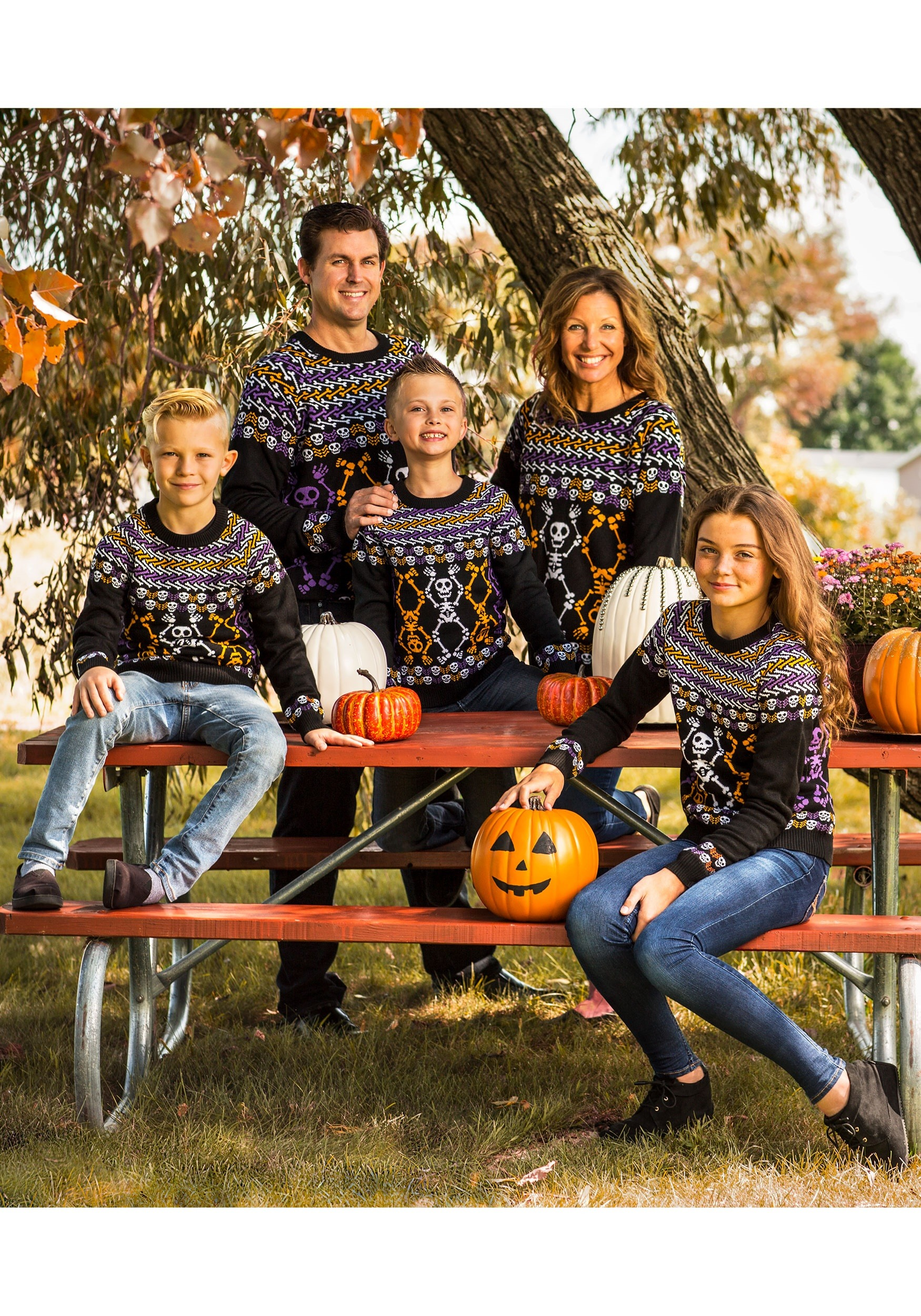 6746035ef Day of the Dead Dancing Skeletons Child Halloween Sweater