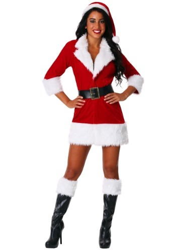 Click Here to buy Womens Secret Santa Costume from HalloweenCostumes, CDN Funds
