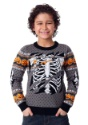 Child Ripped Open Skeleton Ugly Halloween Sweater alt1