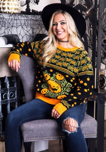 Pumpkin Patch Ugly Halloween Adult Sweater Update1 Main
