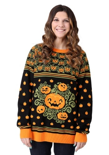 Pumpkin Patch Halloween Adult Sweater