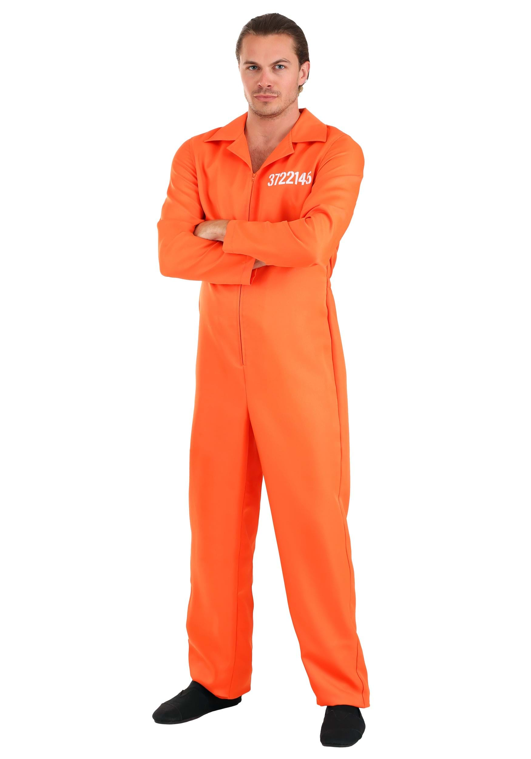 Orange Prison Men S Jumpsuit Holes Costume