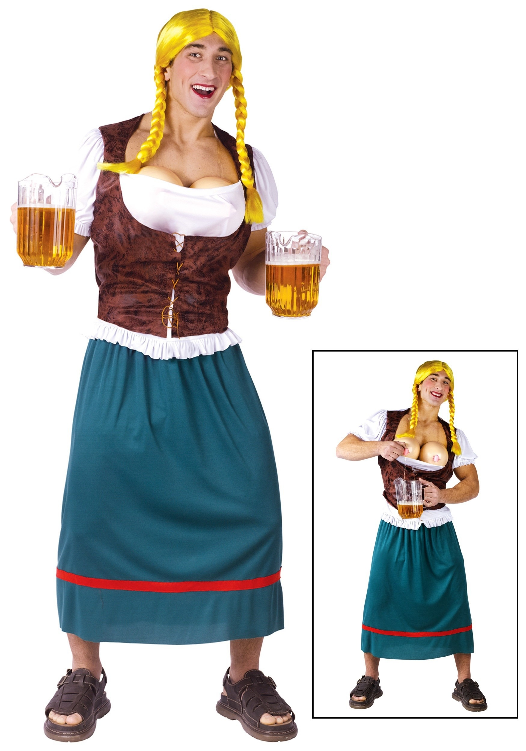 sc 1 st  Halloween Costumes & Mens German Beer Girl Costume