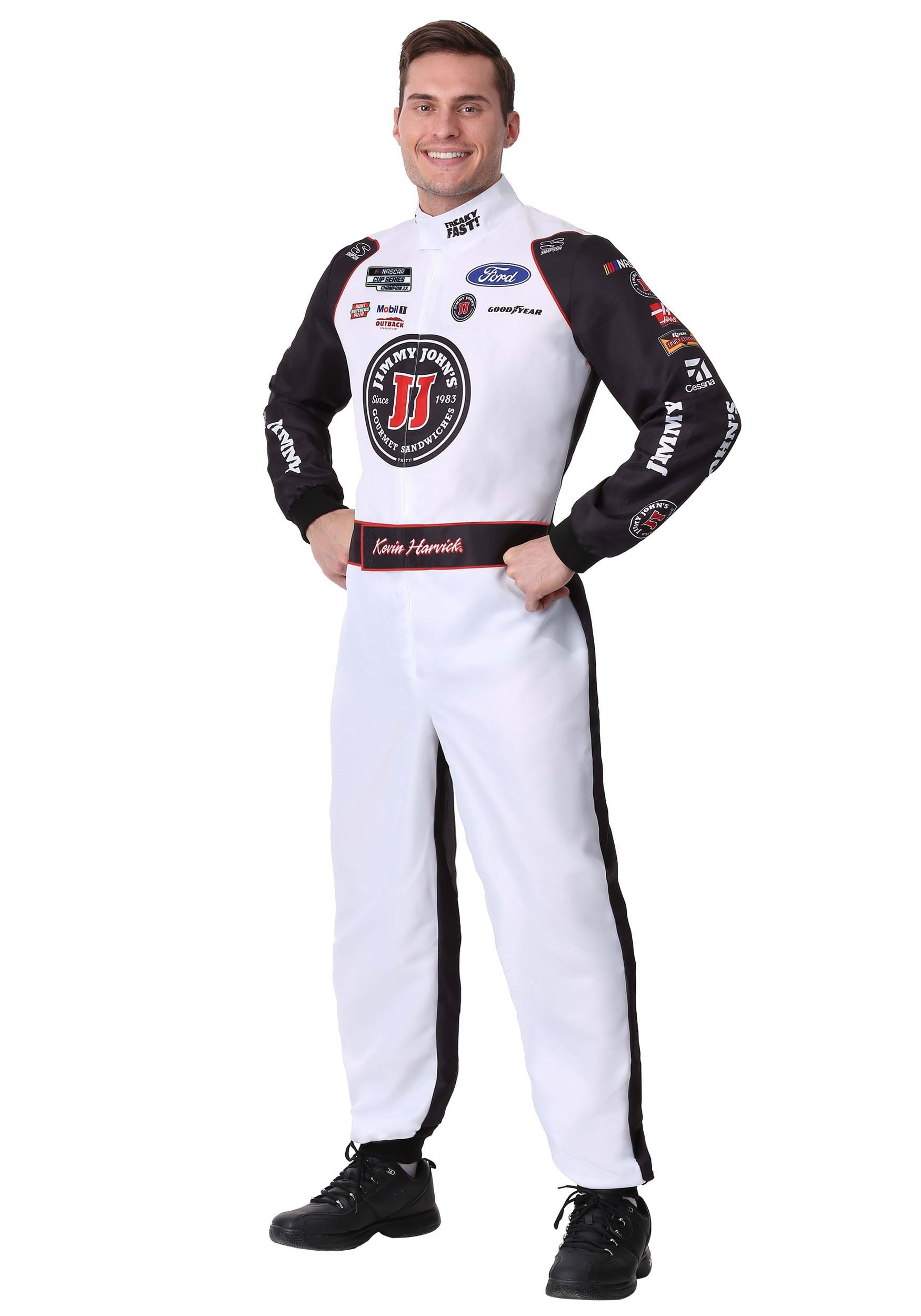 #4 Kevin Harvick(R) Jimmy John's Adult Plus Uniform Costume 2X
