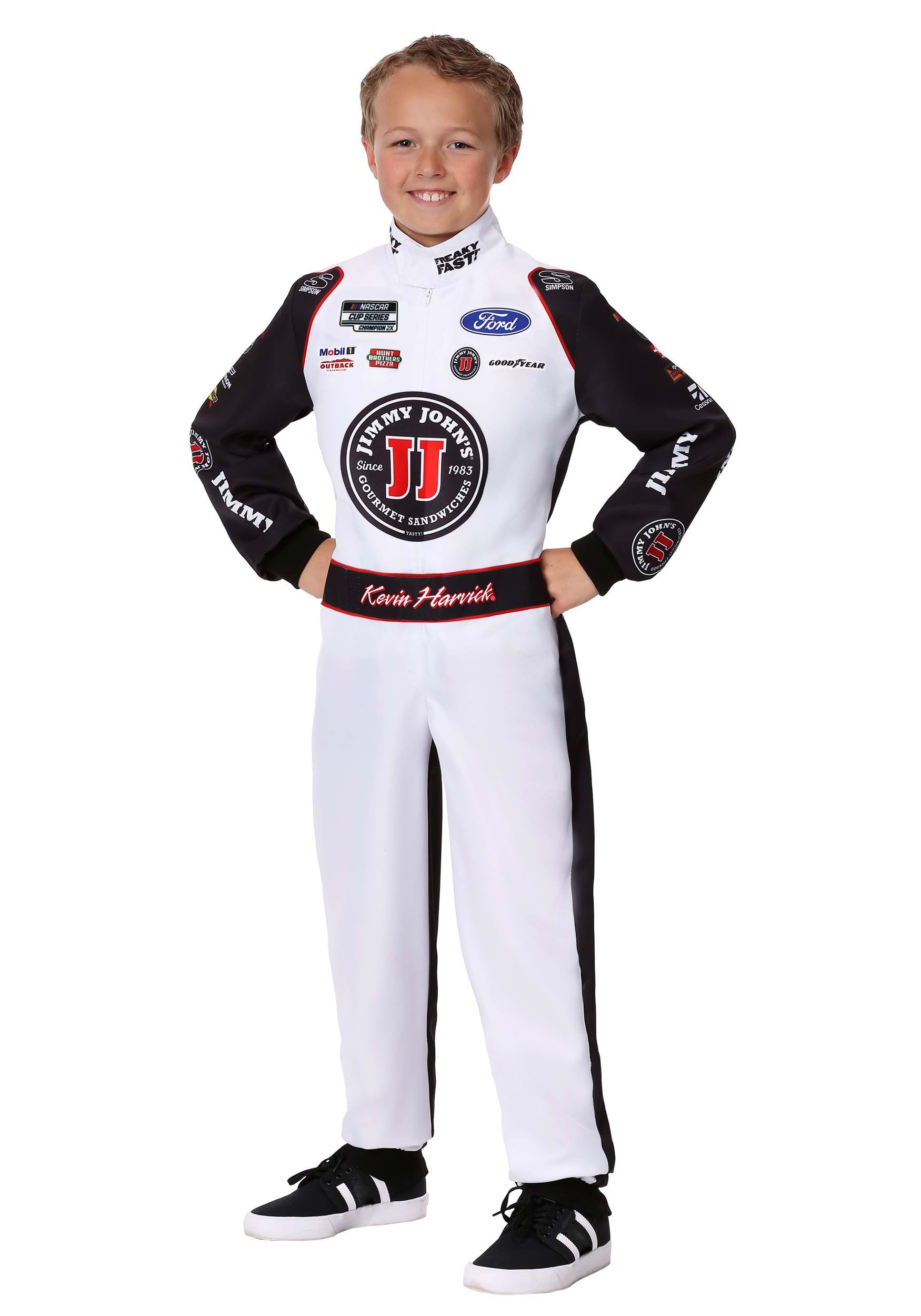 #4 Kevin Harvick(R) Jimmy John's Uniform Costume for a Child