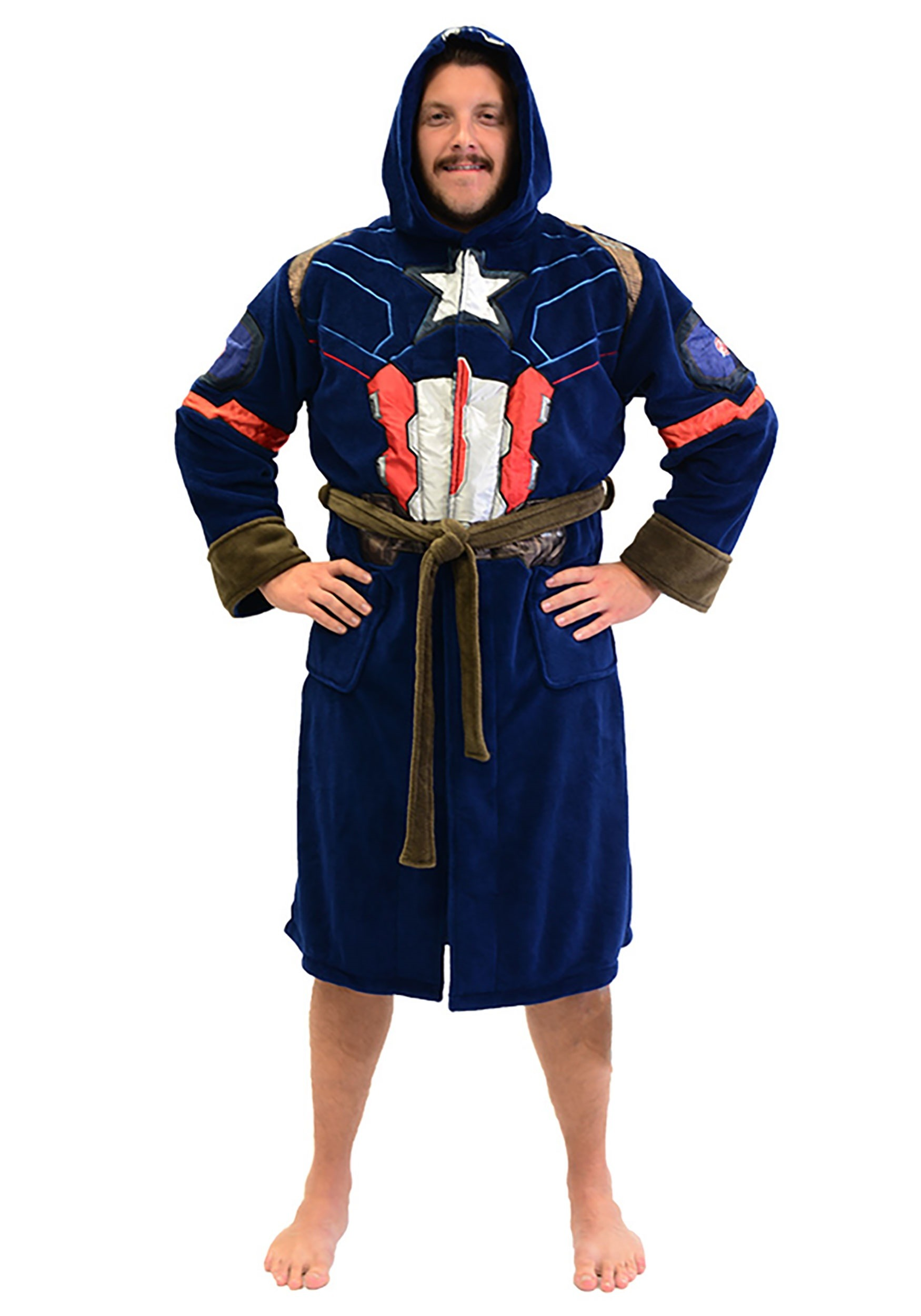 captain america fleece robe for adults