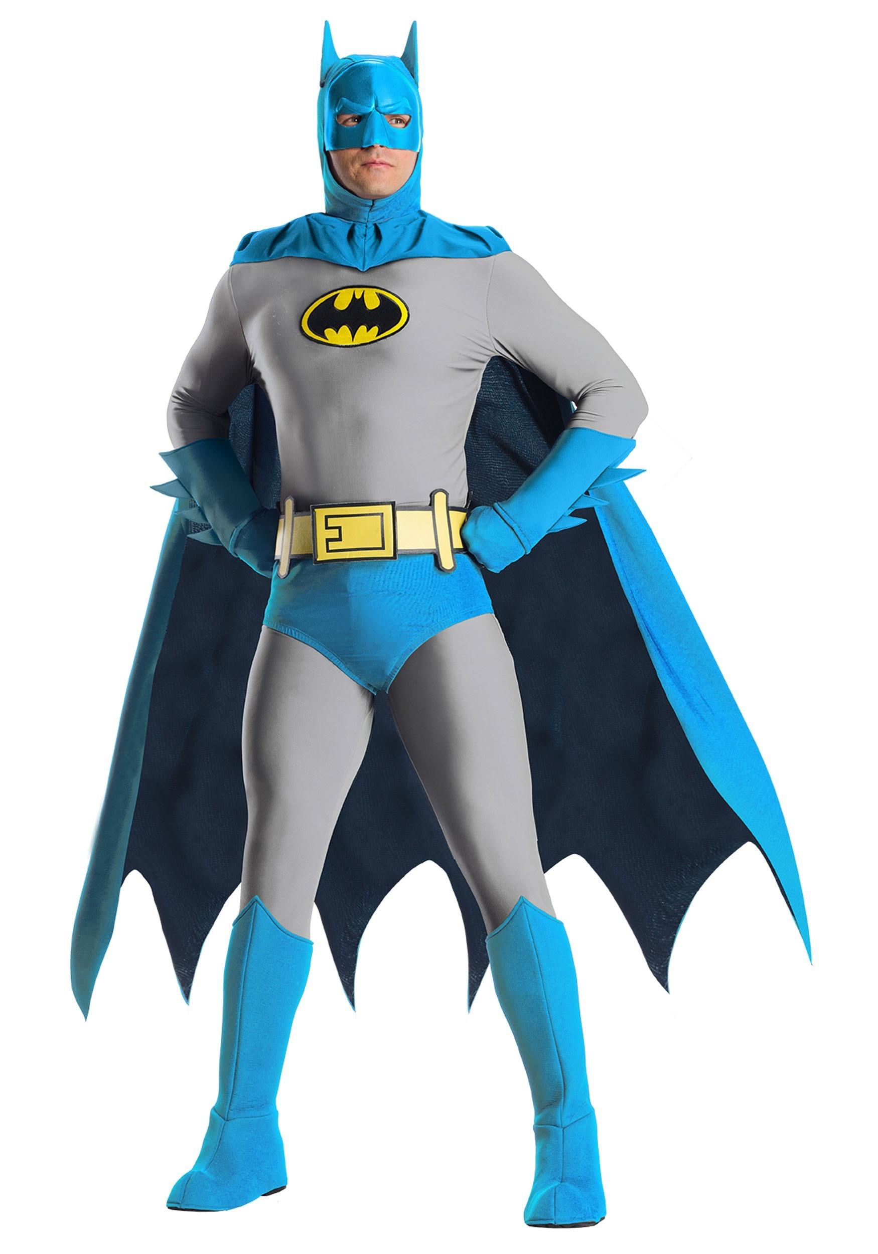 Batman Adult Blue Gloves