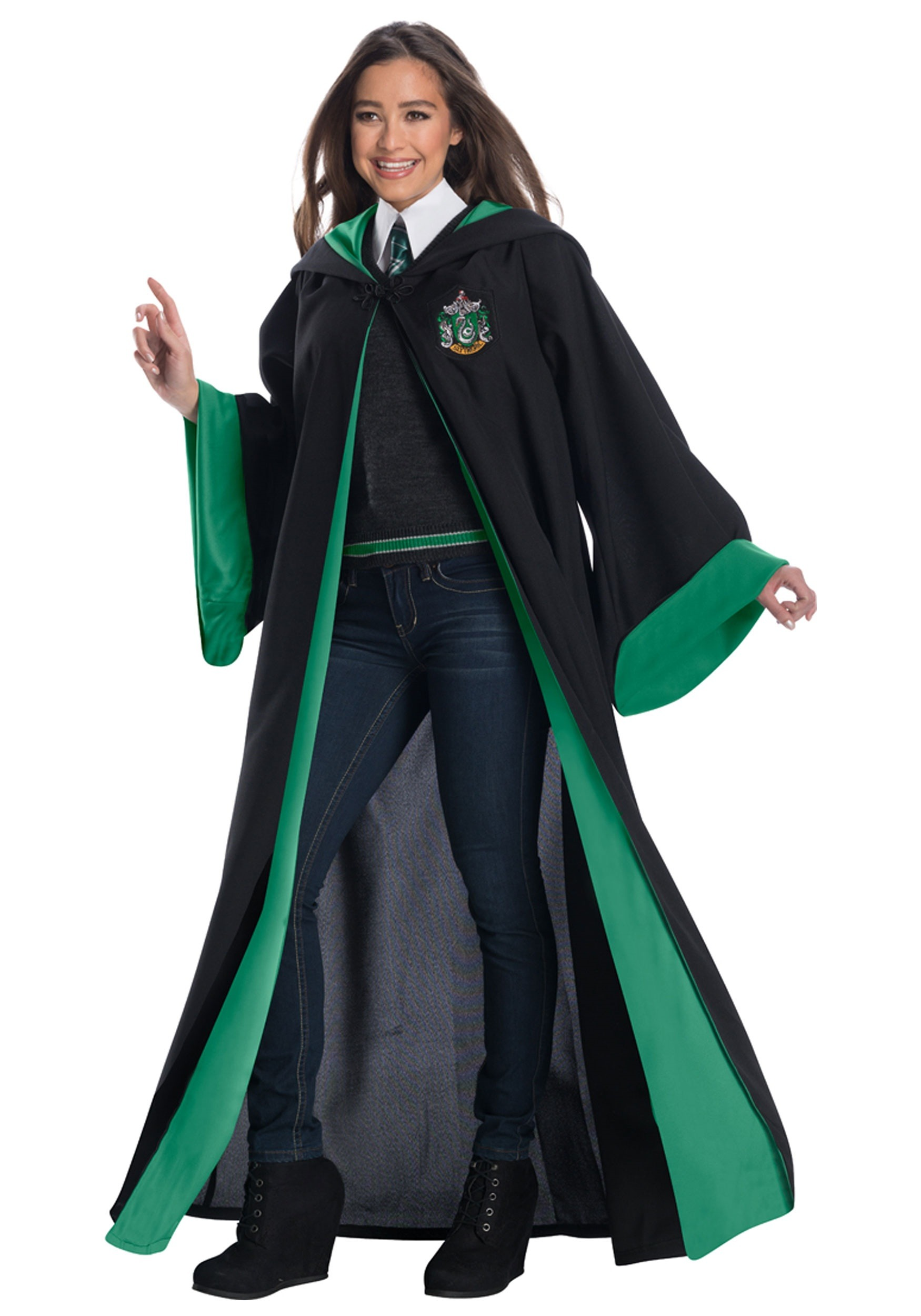 deluxe slytherin student costume for adults