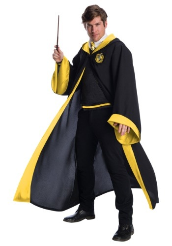 Click Here to buy Deluxe Hufflepuff Student Costume for Adults from HalloweenCostumes, CDN Funds