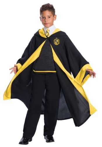 Click Here to buy Deluxe Hufflepuff Student Kids Costume from HalloweenCostumes, CDN Funds